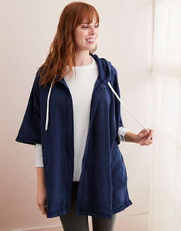 964877219431 placeholder image Aerie Fleece Poncho ...