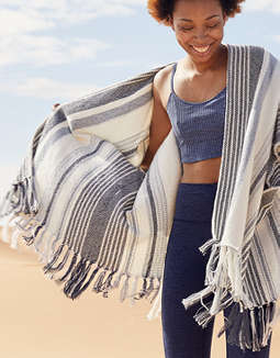 Aerie Woven Poncho