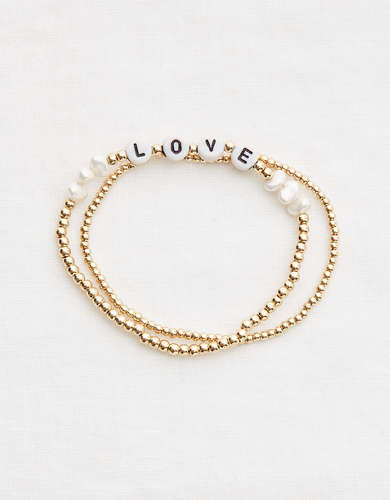 Aerie Gold Ball Bracelet Set
