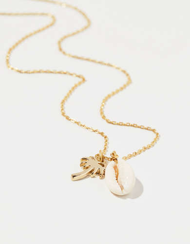 Aerie Shell Charm Necklace