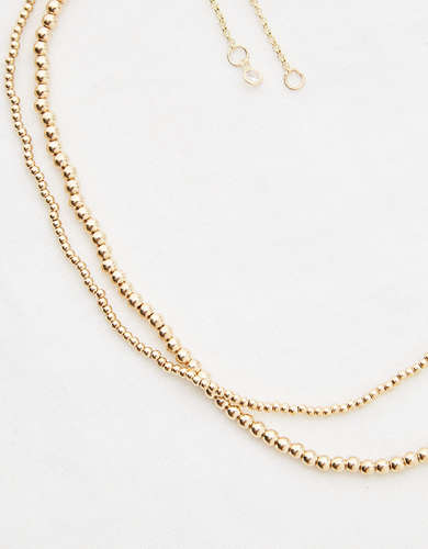 Aerie Gold Ball Layered Necklace