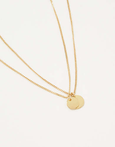 Aerie Coin Necklace Set