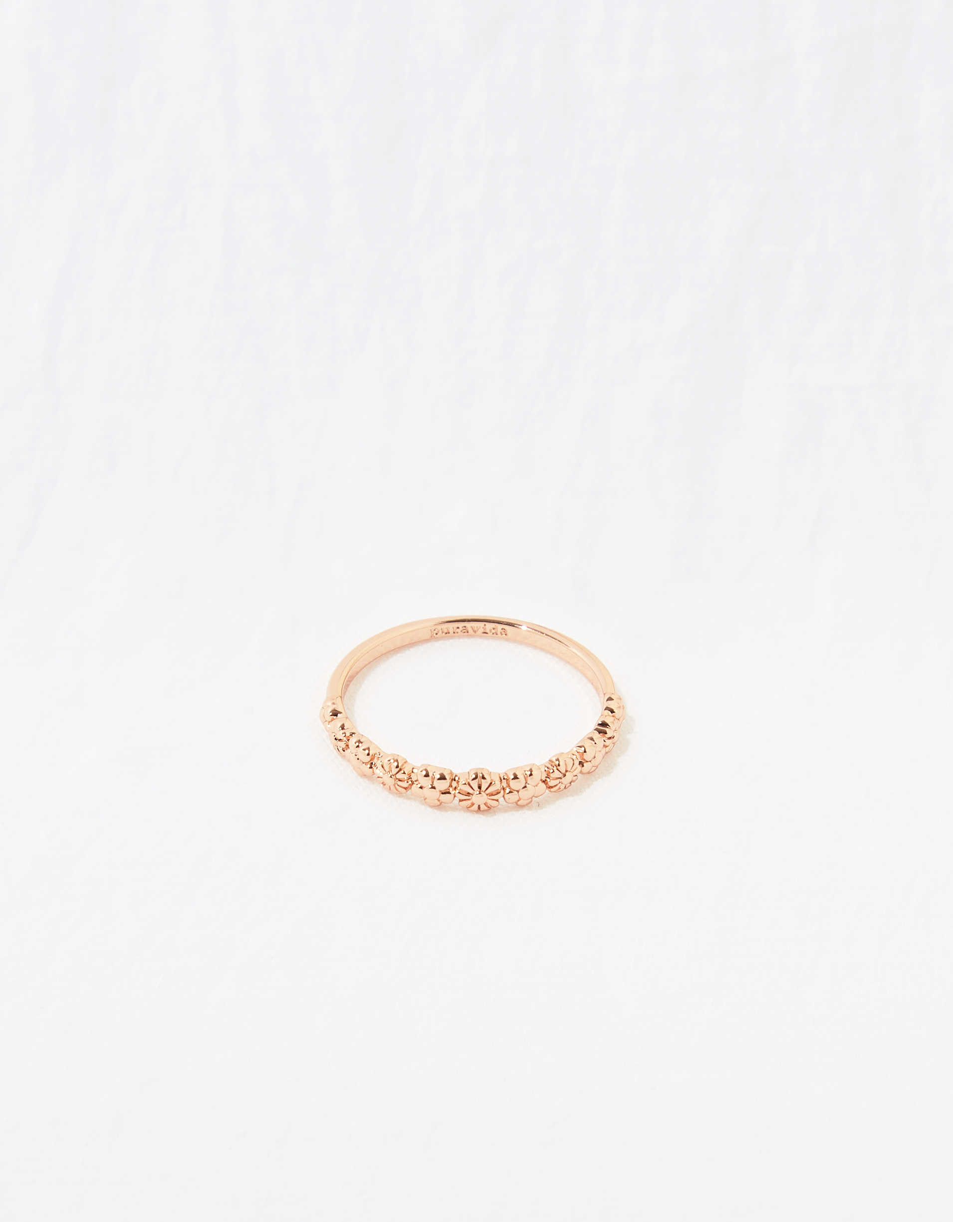 Pura Vida Floral Stacking Ring