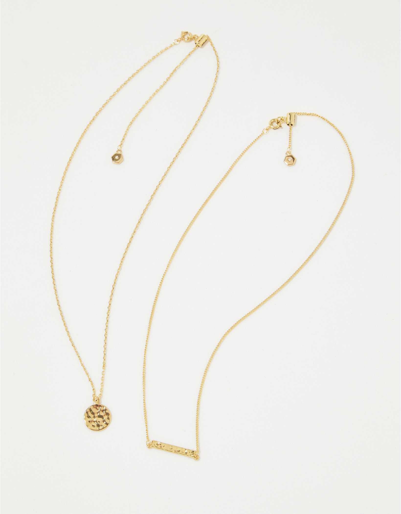Aerie Hammered Metal Necklace 2-Pack