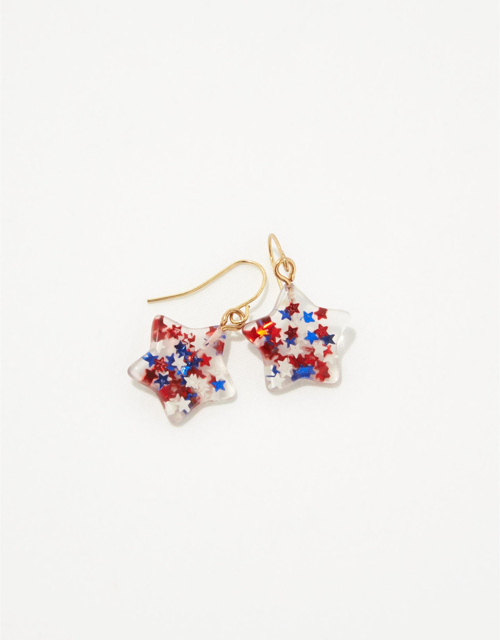 Aerie Star Glitter Earrings