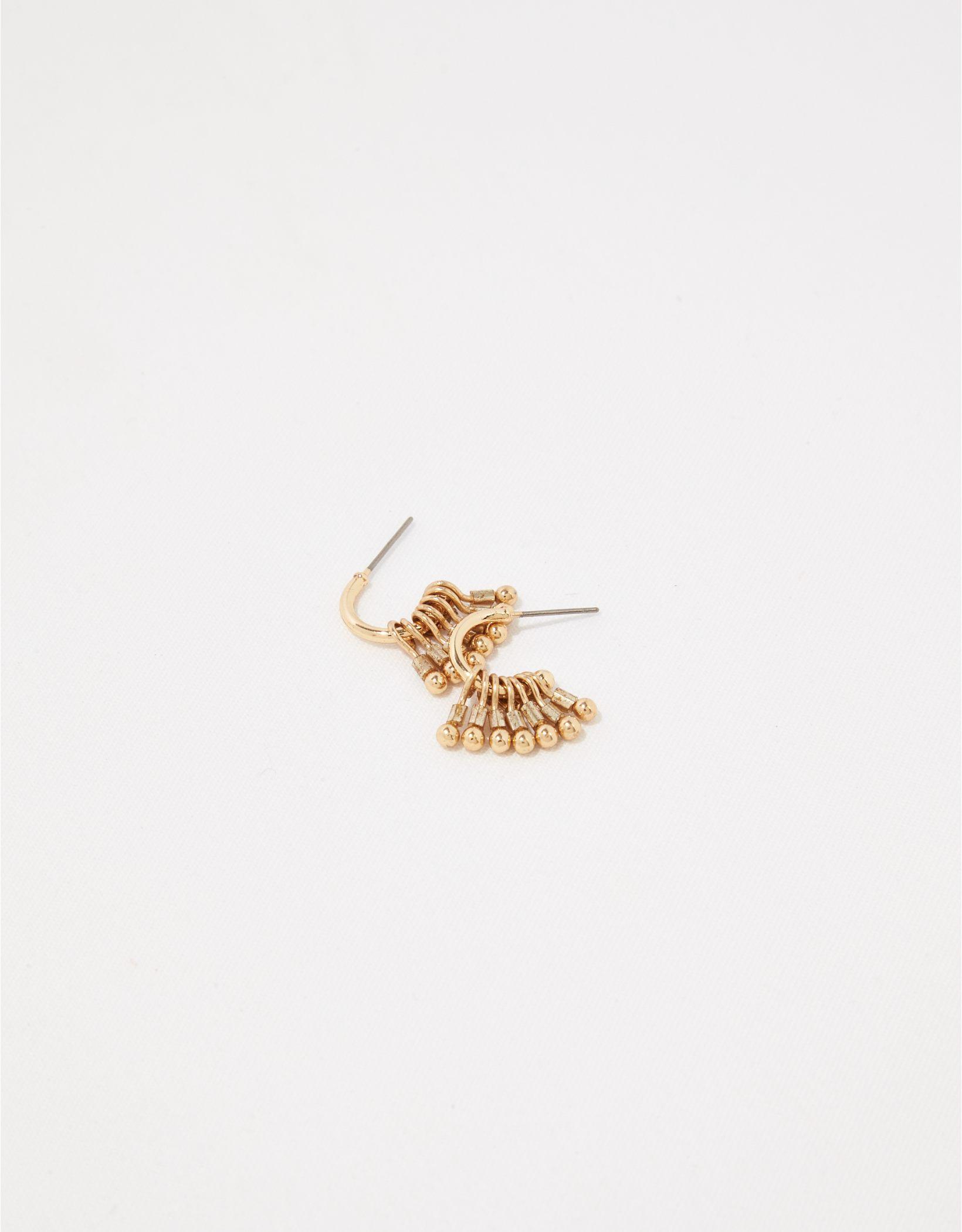 Aerie Tassel Hoop Earrings