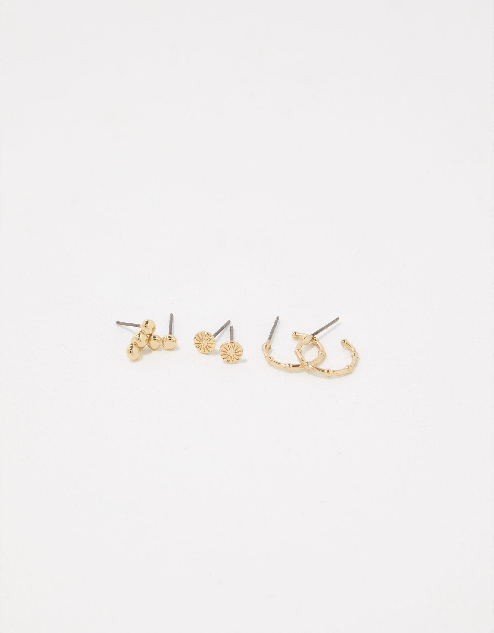 Aerie Metal Simple Earrings 3-Pack