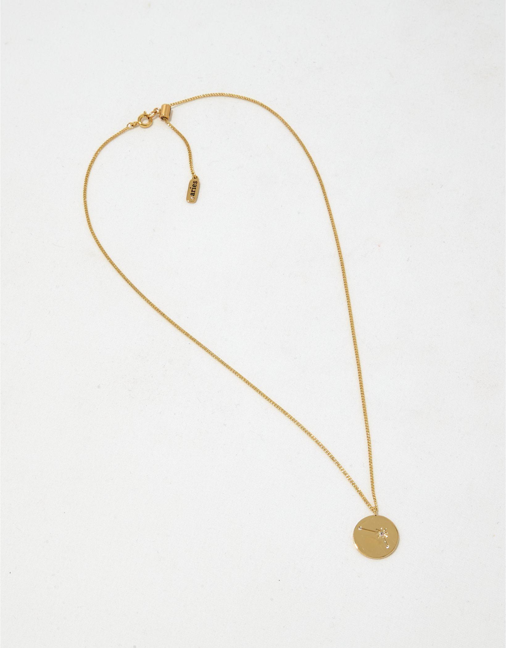 Aerie 14K Gold Zodiac Necklace