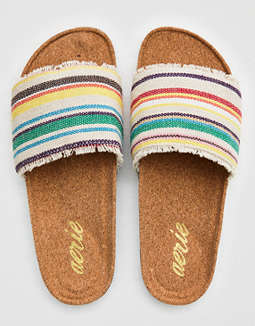 Aerie Morrocan Striped Slides