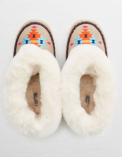 Aerie Furry Moccasins