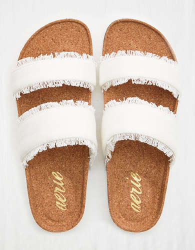 Aerie Double Strap Denim Slide