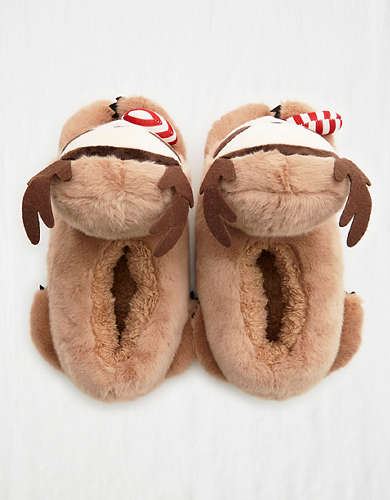 Aerie Fuzzy Animal Slippers