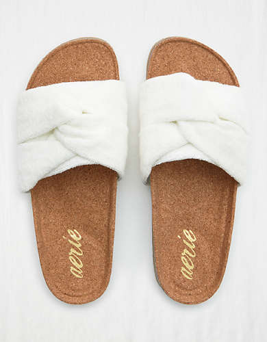 Aerie Terry Bow Slides