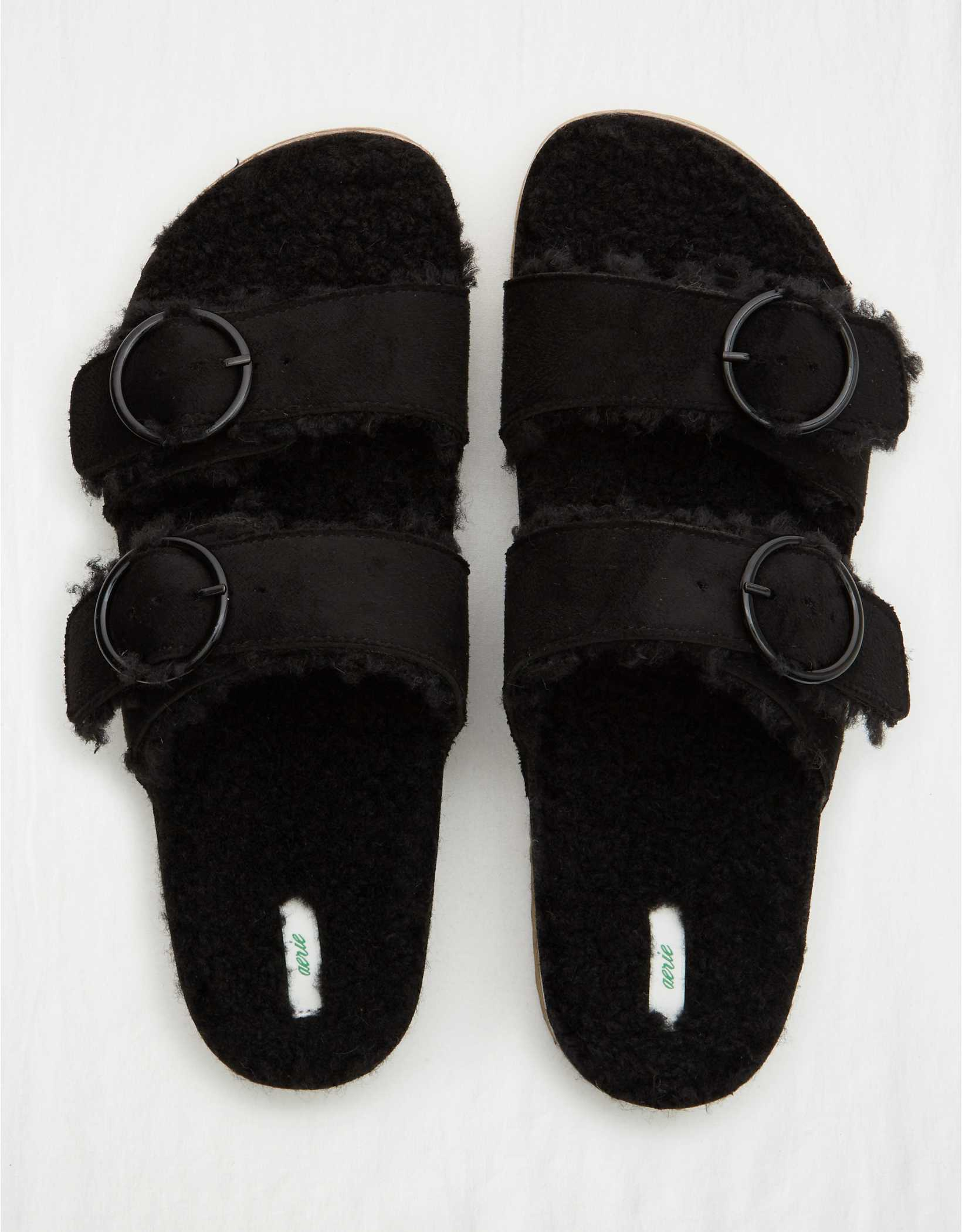Aerie Sherpa Double Strap Slides