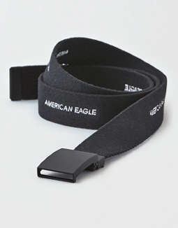 Ae Embroidered Repeat Logo Belt by American Eagle Outfitters