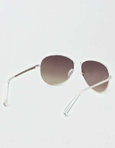 AEO Silver Aviator Sunglasses