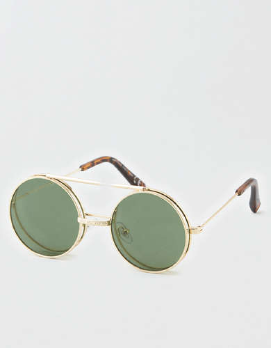 AEO Round Flip Up Sunglasses