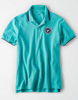 AE Patch Pique Polo Shirt