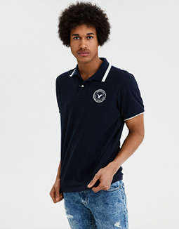 Ae Patch Pique Polo Shirt by American Eagle Outfitters
