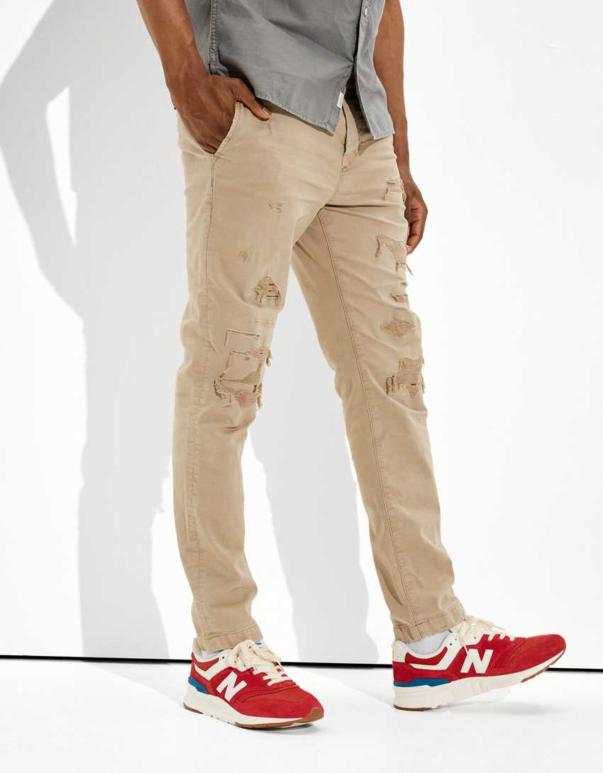 AE Flex Patched Slim Lived-In Khaki Pant