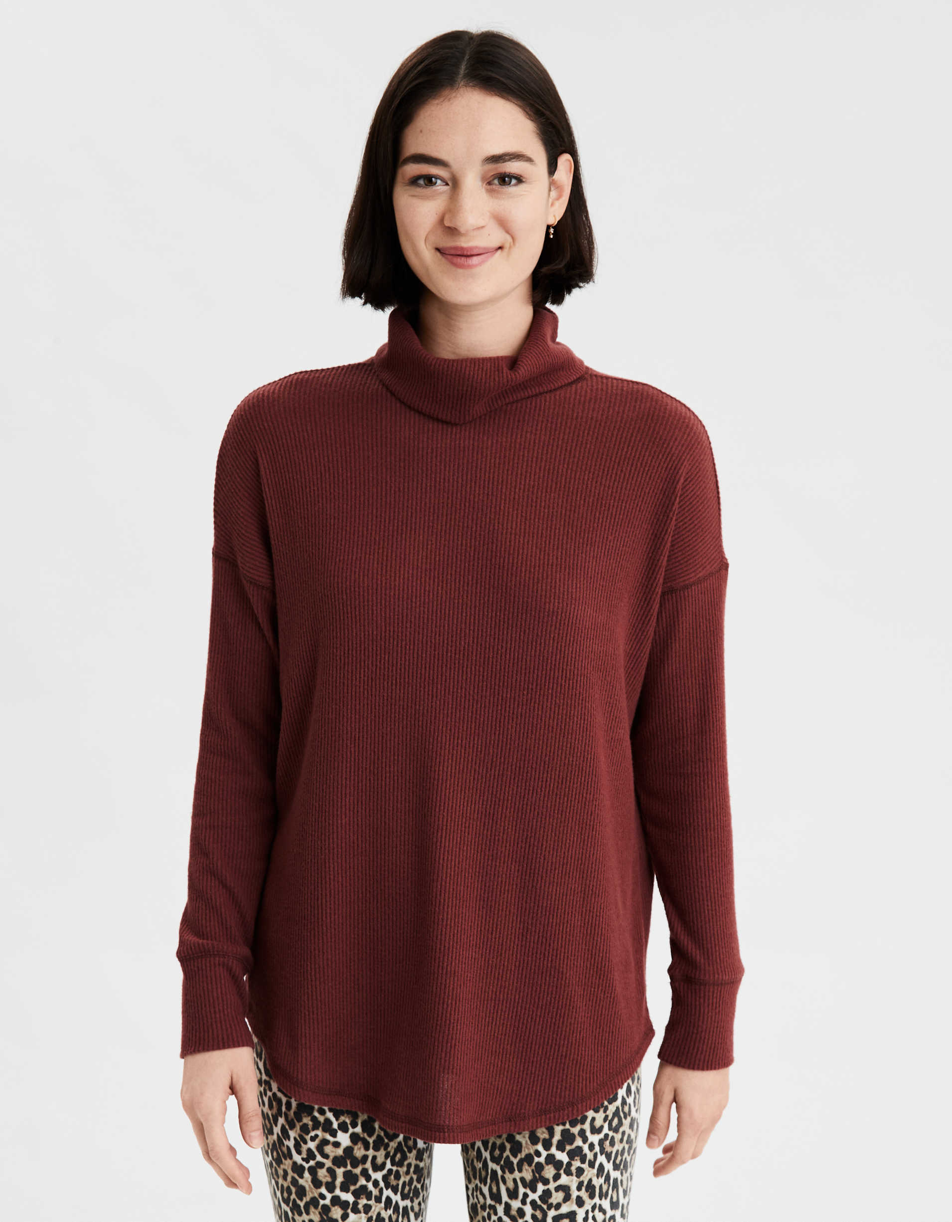 AE Soft Plush Turtleneck Long Sleeve T-Shirt