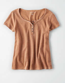 Ae Short Sleeve Henley T Shirt by American Eagle Outfitters