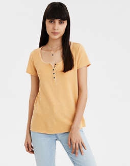 AE Short Sleeve Henley T-Shirt