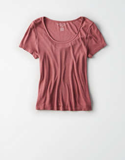 Ae Short Sleeve Scoop Neck Tee by American Eagle Outfitters