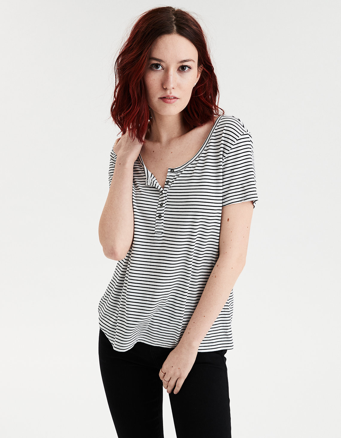 72dfa2b8ac4 AE Soft   Sexy Striped Jersey T-shirt. Placeholder image. Product Image