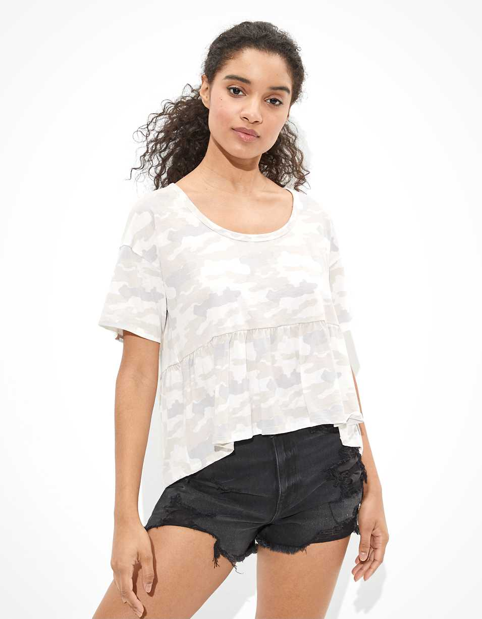 AE Scoop Neck Babydoll T-Shirt