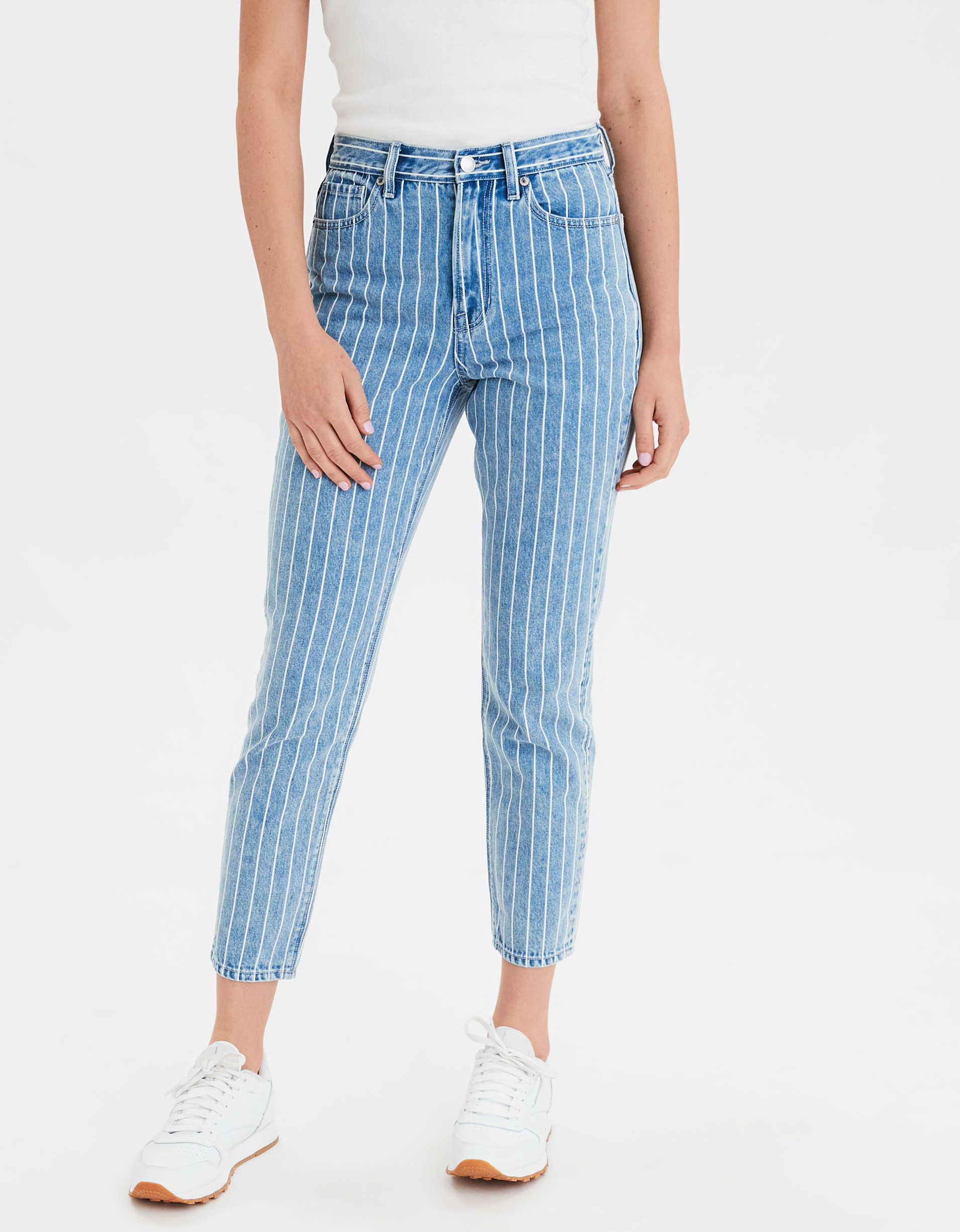 Striped Mom Jean