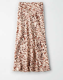 AE Studio Animal Print Midi Skirt