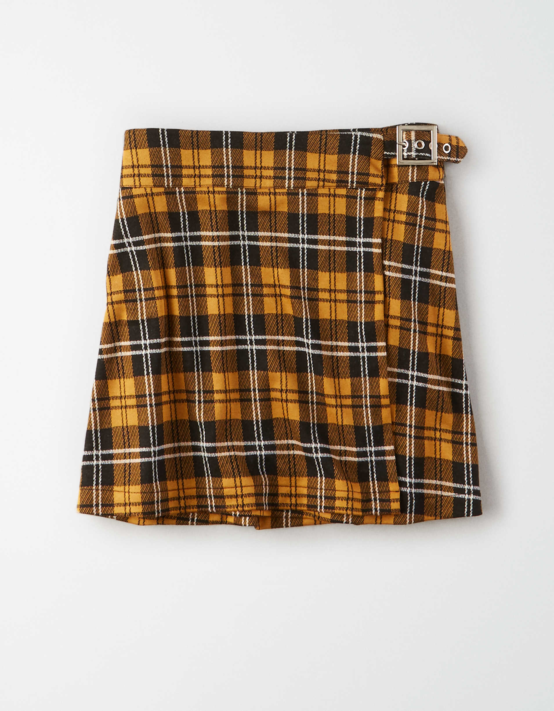 AE Studio Plaid Wrap Skirt