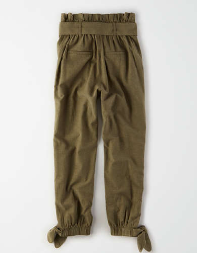 AE Studio High-Waisted Paperbag Tie Hem Pant