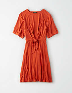 AE Studio Tie Front T-Shirt Dress
