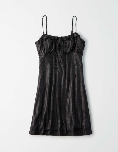 AE Studio Shimmer Babydoll Dress