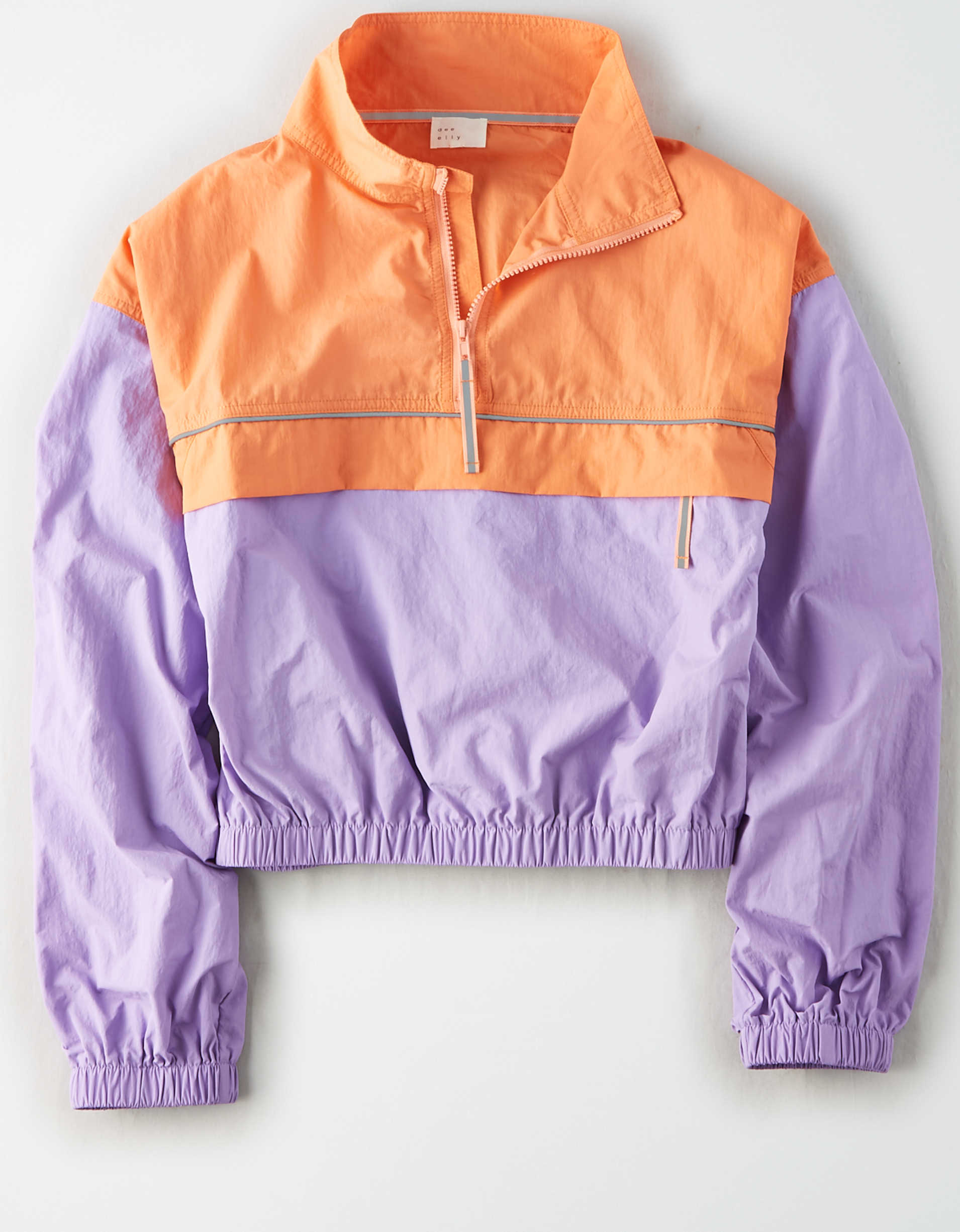 AE Studio Color Block Cropped Windbreaker