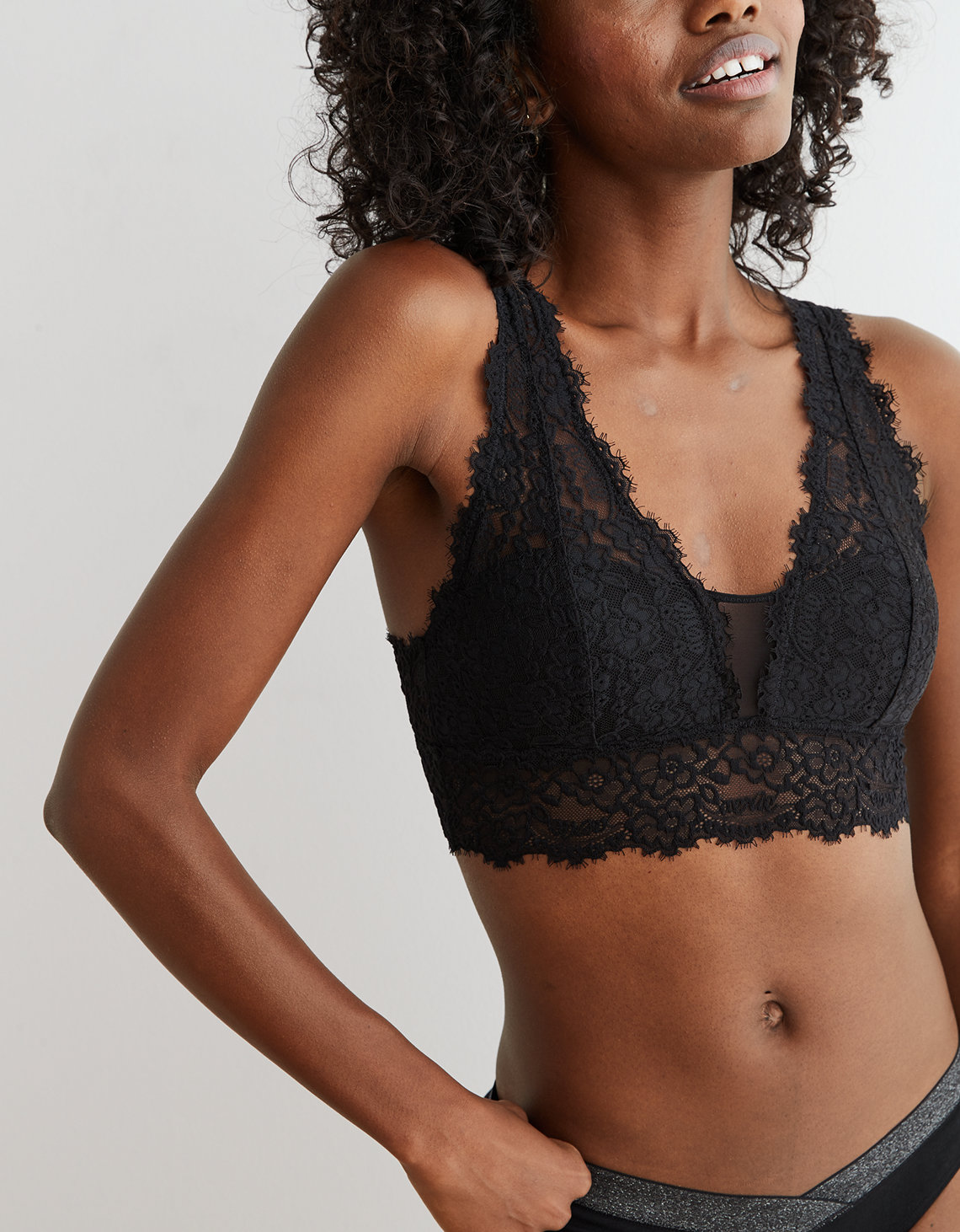 c7409cd6a61 Aerie Romantic Lace Plunge Bralette. Placeholder image. Product Image