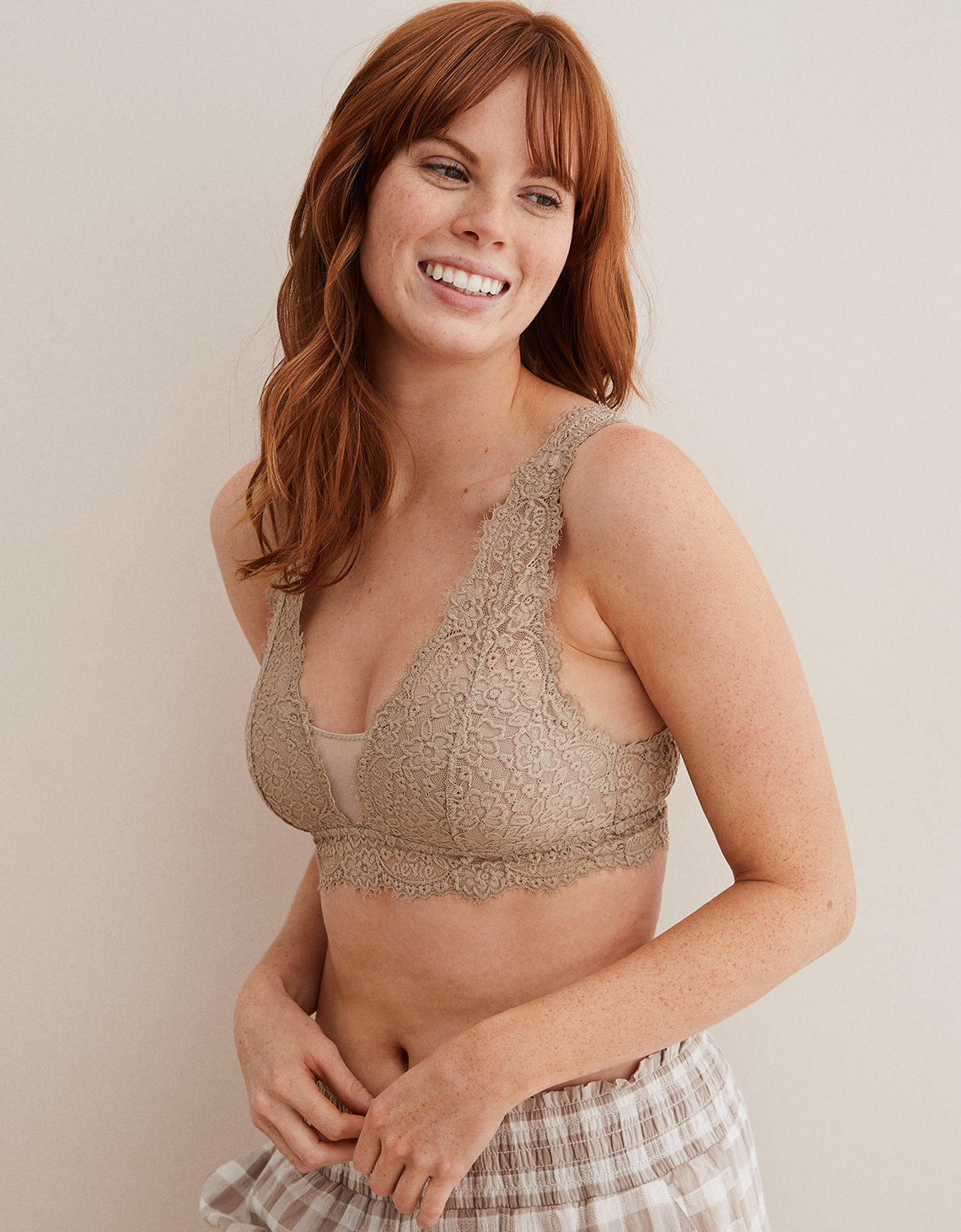 4b21b187a3fba Aerie Romantic Lace Plunge Bralette. Placeholder image. Product Image