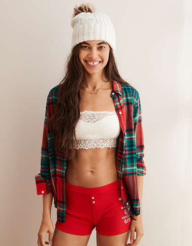 Aerie Highlands Lace Overlay Bralette