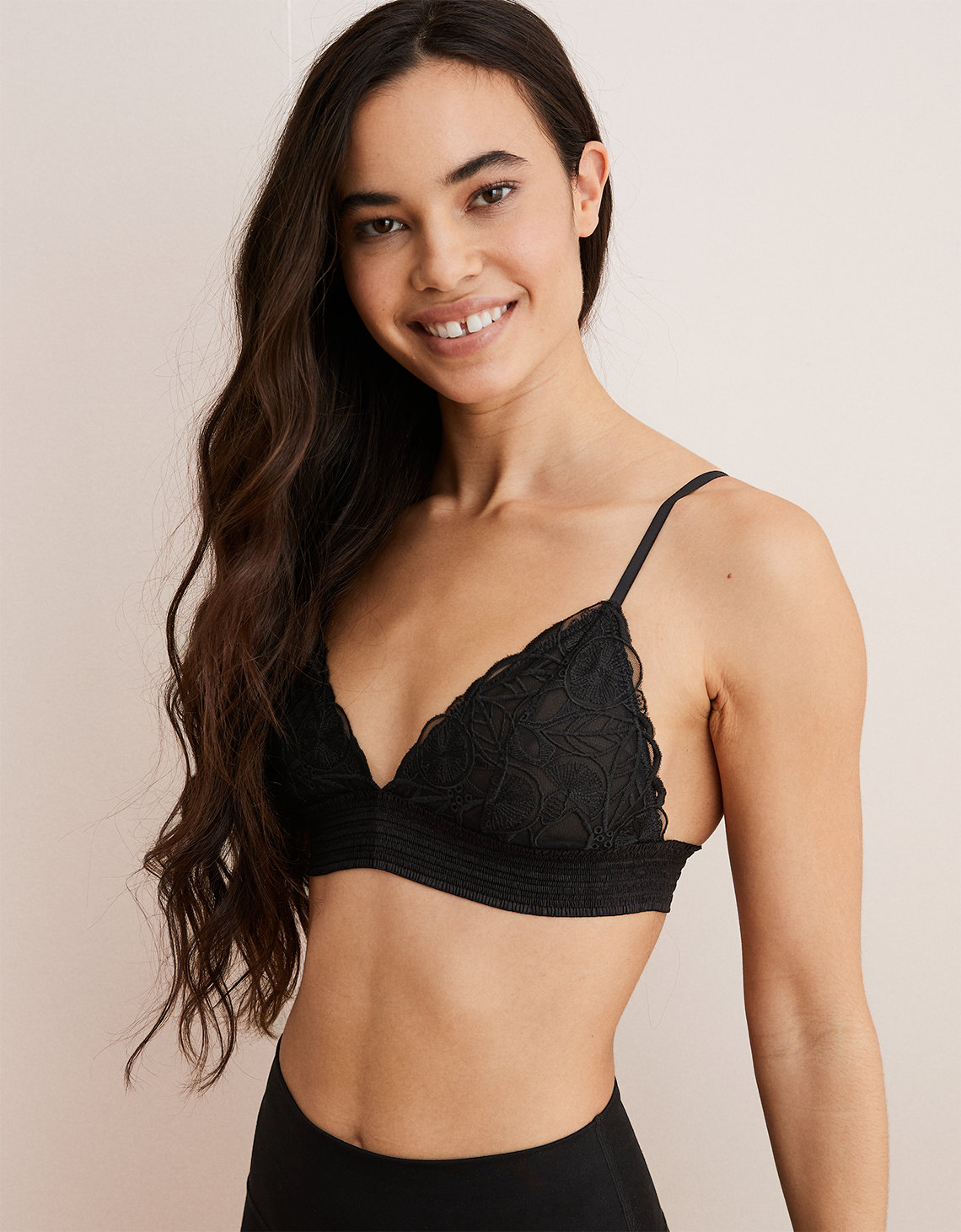Aerie Embroidered Triangle Bralette