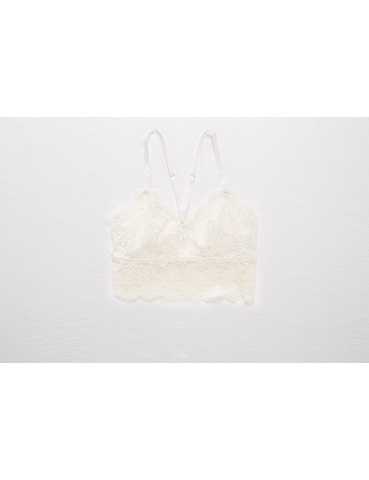 Display product reviews for Aerie Romantic Lace Longline Bralette