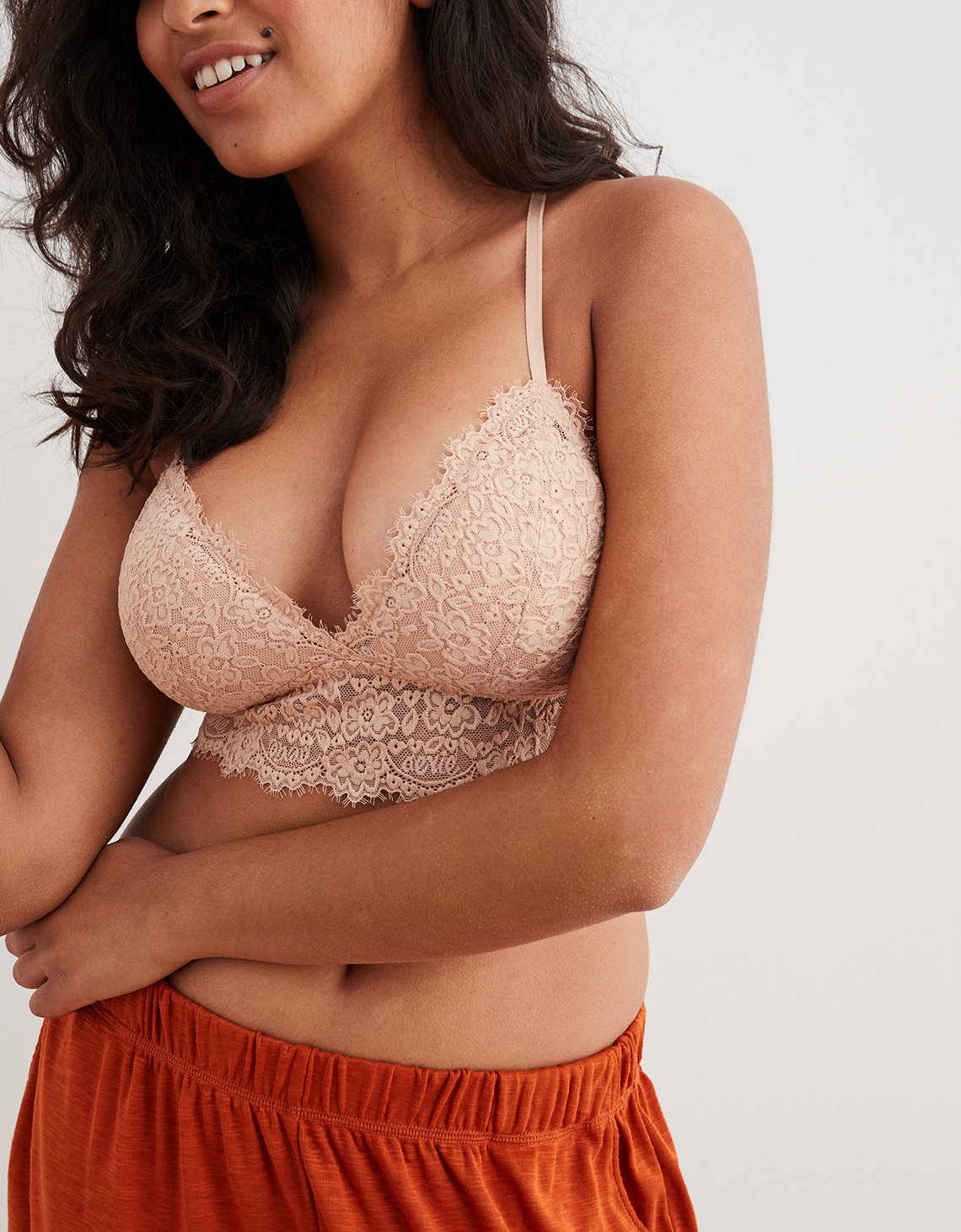 Aerie Romantic Lace Padded Bralette. Placeholder image. Product Image 703936fed