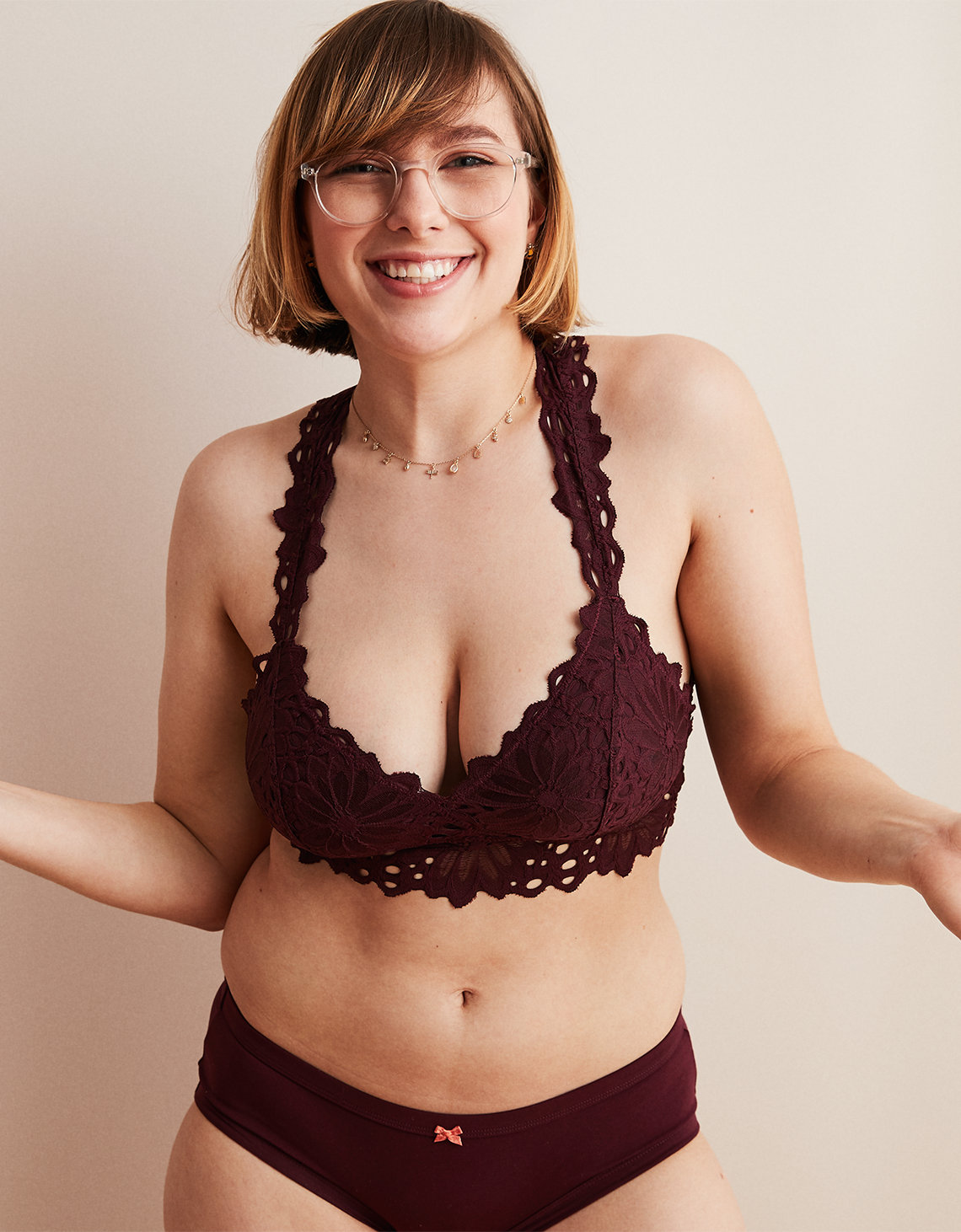 117020aa8c Aerie Lace Racerback Bralette. Placeholder image. Product Image