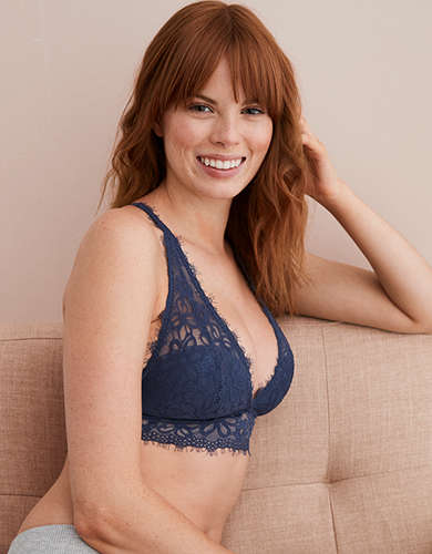 Aerie Holiday Lace Padded Bralette