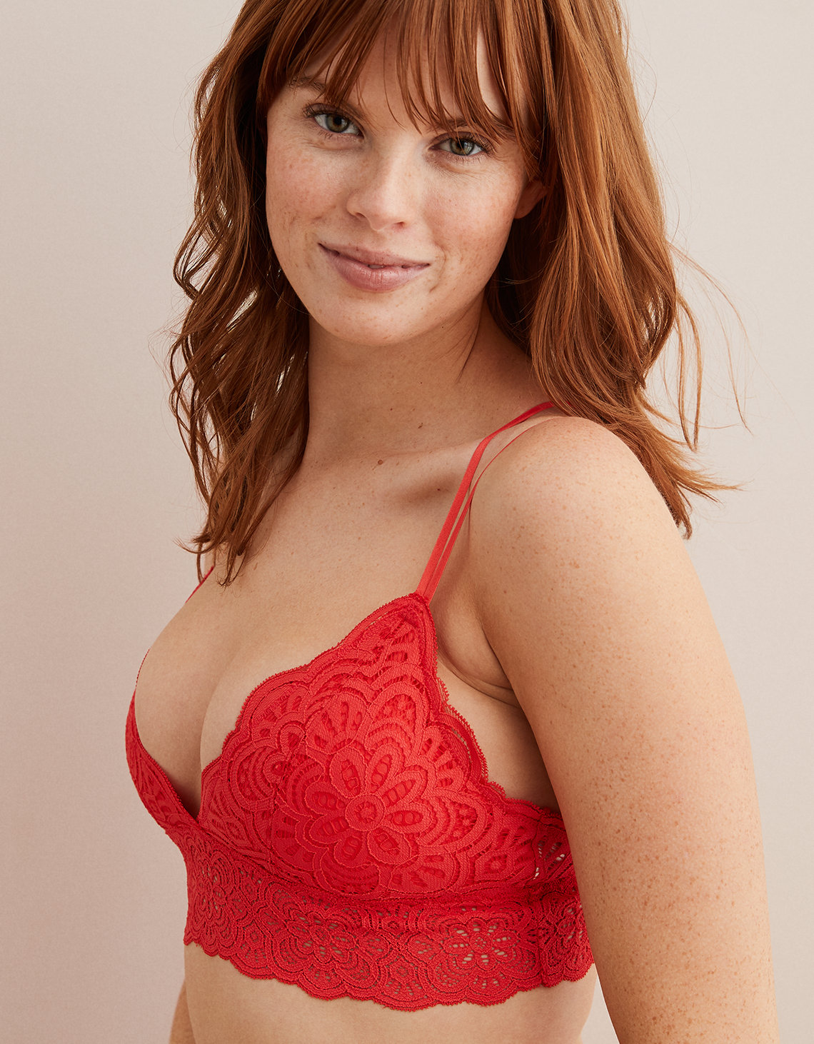 Aerie Flora Lace Padded Bralette