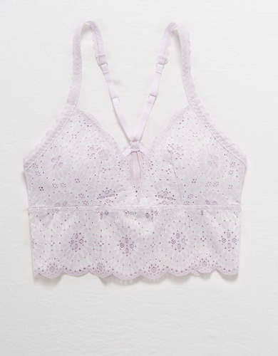 Aerie Starry Lace Padded Longline Bralette