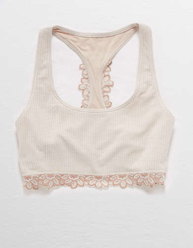 Aerie Cotton Ribbed Racerback Bralette
