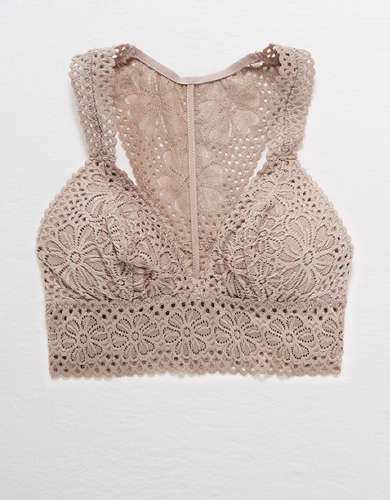 Aerie Lace Racerback Padded Bralette