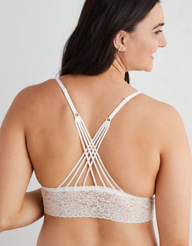 Aerie Lace Strappy Padded Bralette